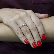 Помолвочное кольцо из белого золота Вечная любовь с бриллиантом 0,15ct